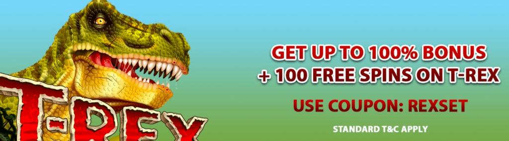 T-Rex slot promotions
